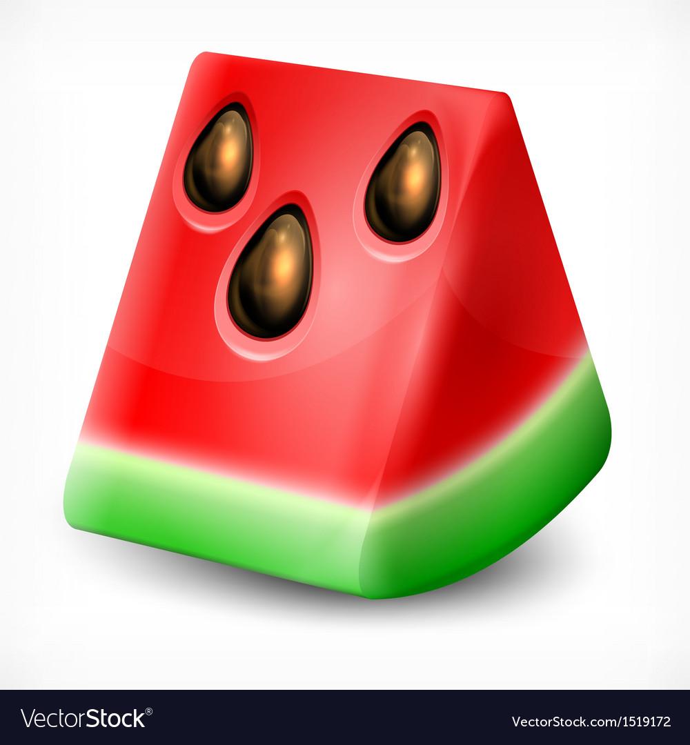 Watermelon on white vector | Price: 3 Credit (USD $3)