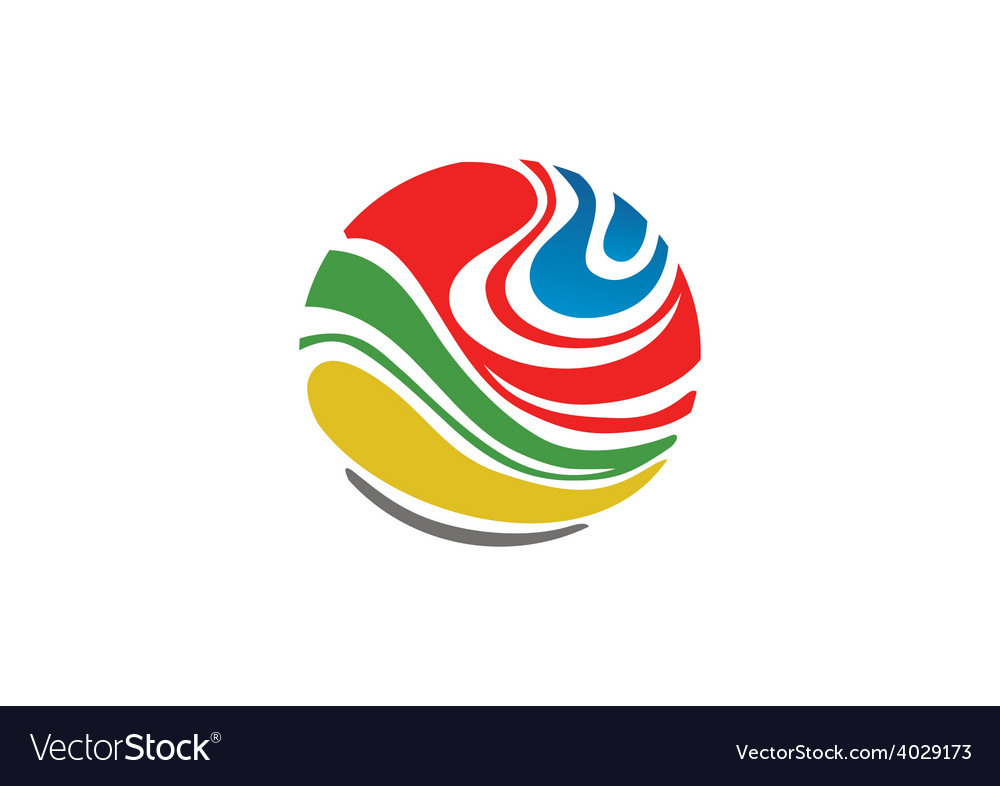 Abstract colorful globe logo vector | Price: 1 Credit (USD $1)
