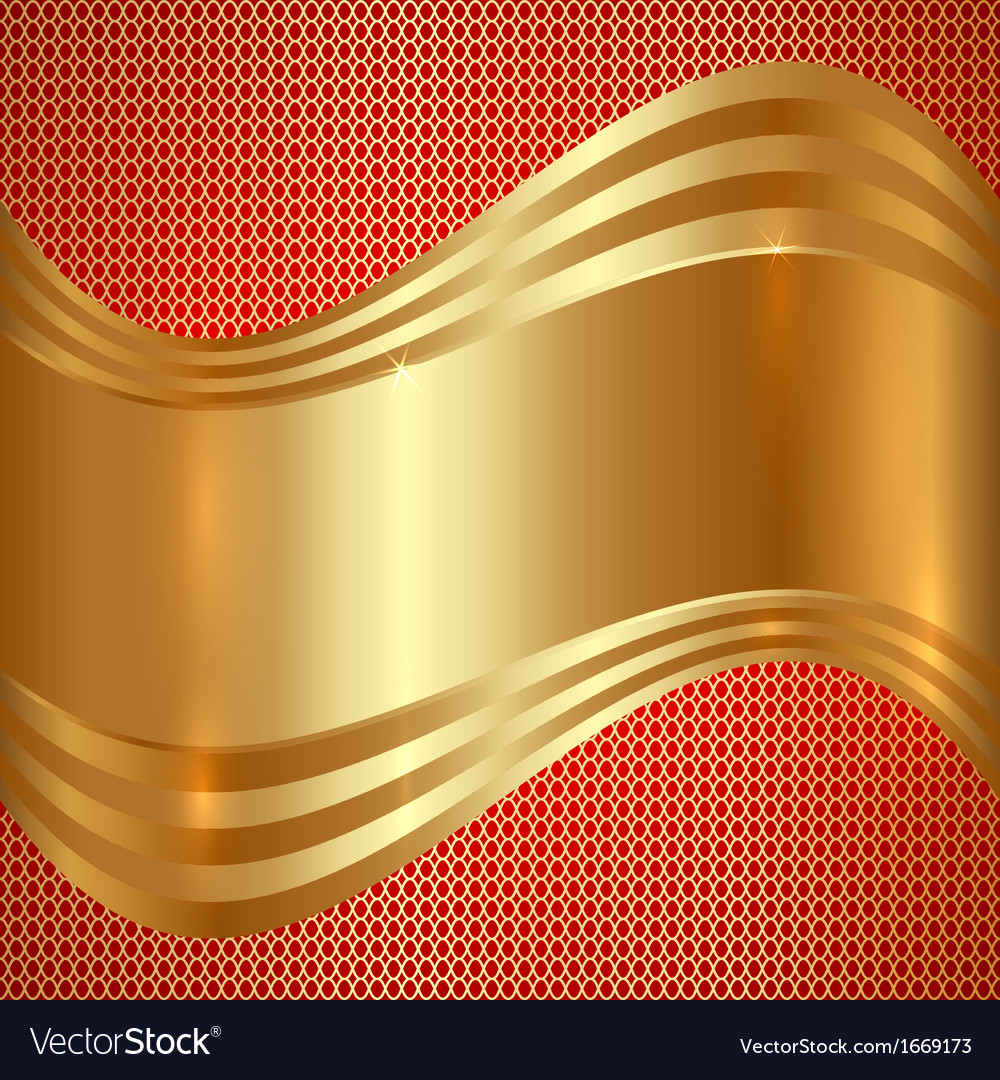 Abstract gold background with curves vector   Price: 1 Credit (USD $1)