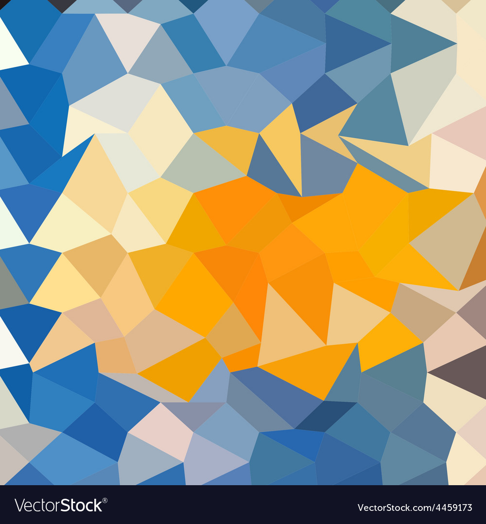Azure blue abstract low polygon background vector | Price: 1 Credit (USD $1)