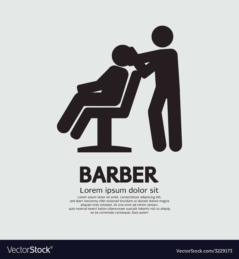 Barber sign graphic vector | Price: 1 Credit (USD $1)