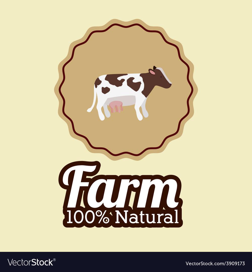 Farm design over beige background vector | Price: 1 Credit (USD $1)