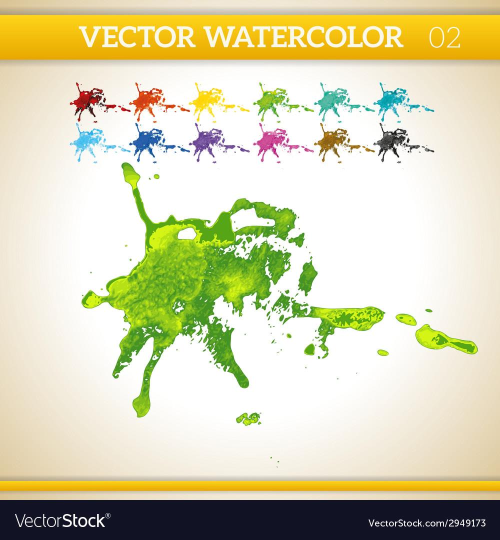 Fresh green watercolor artistic splash for design vector | Price: 1 Credit (USD $1)