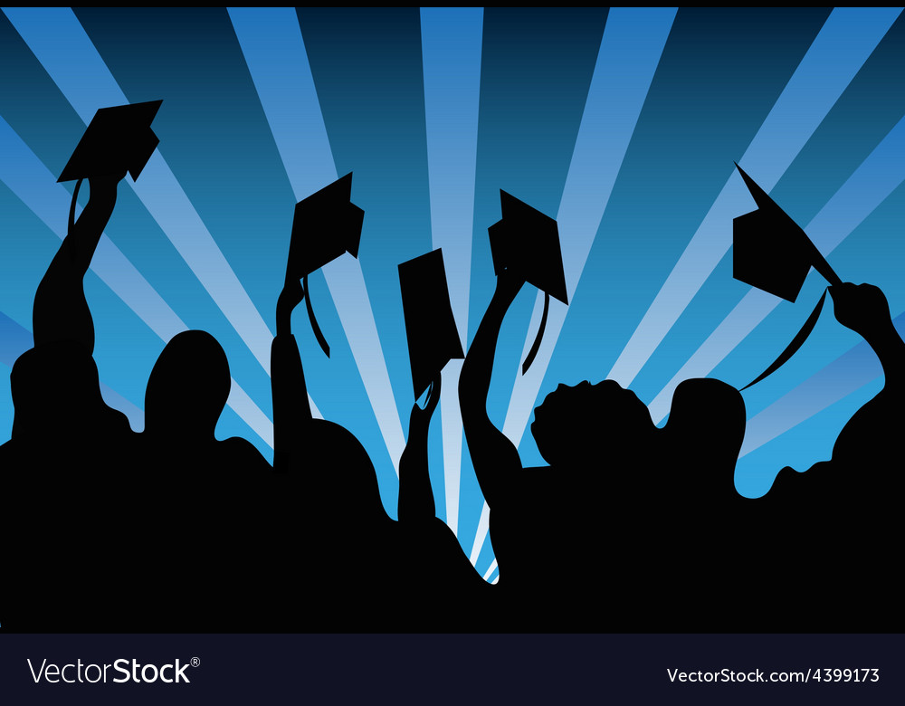 Graduation students background vector | Price: 1 Credit (USD $1)