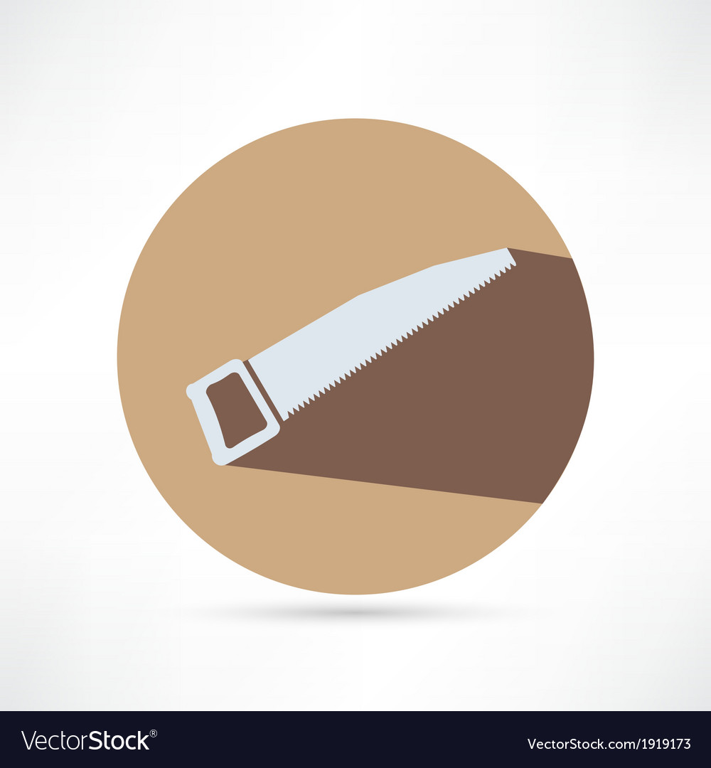 Icon of hand saw vector   Price: 1 Credit (USD $1)