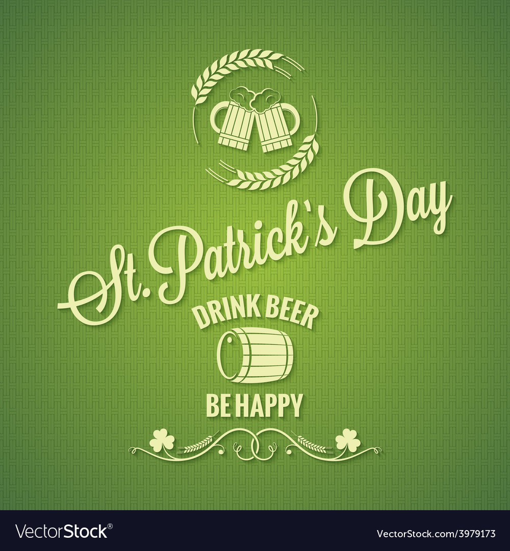 Patrick day beer design background vector | Price: 1 Credit (USD $1)