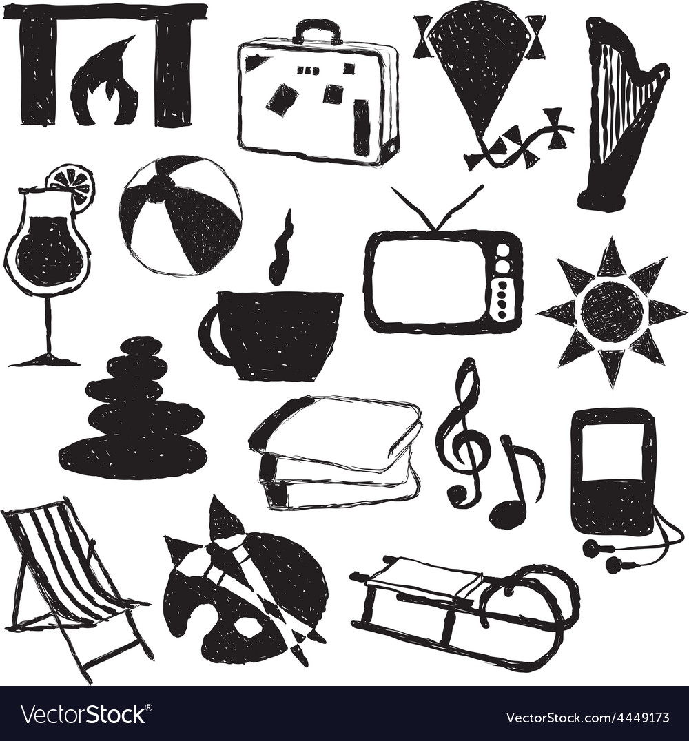 Relax doodle images vector | Price: 1 Credit (USD $1)