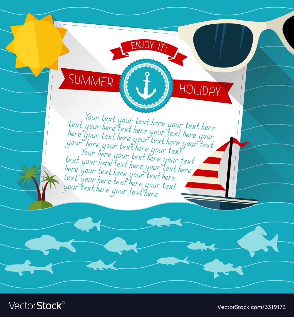 Sea summer background vector | Price: 1 Credit (USD $1)