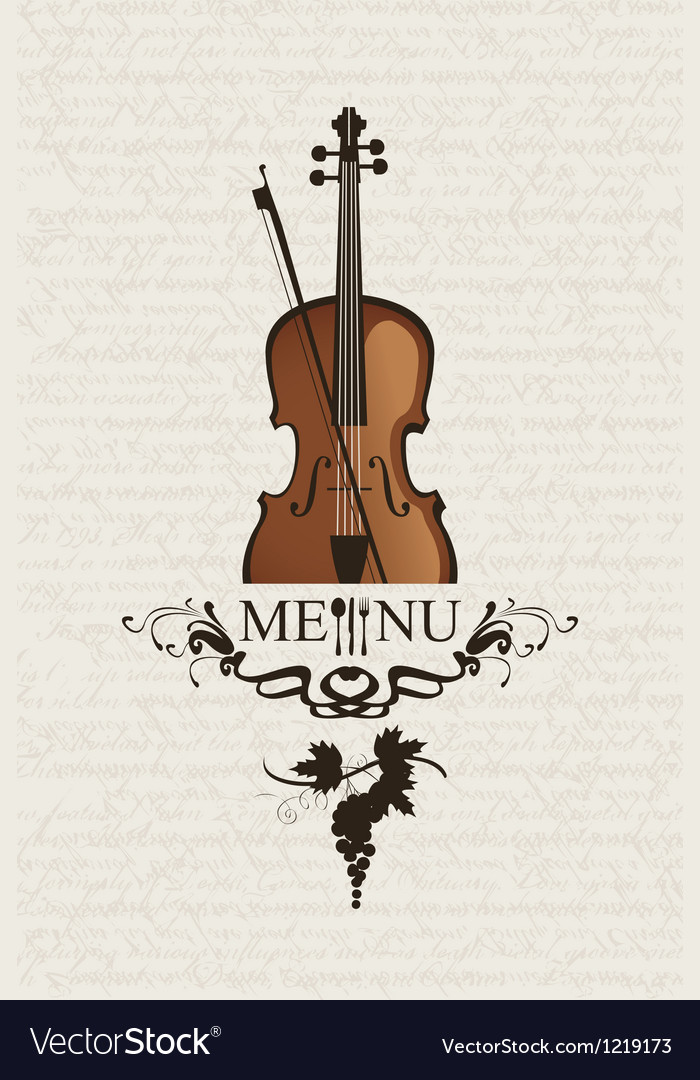 Violin and cutlery vector | Price: 1 Credit (USD $1)