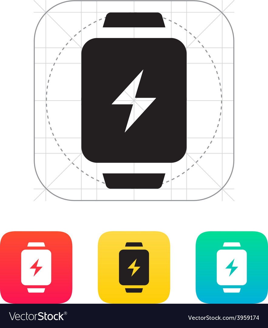 Charge sign in smart watch icon vector | Price: 1 Credit (USD $1)
