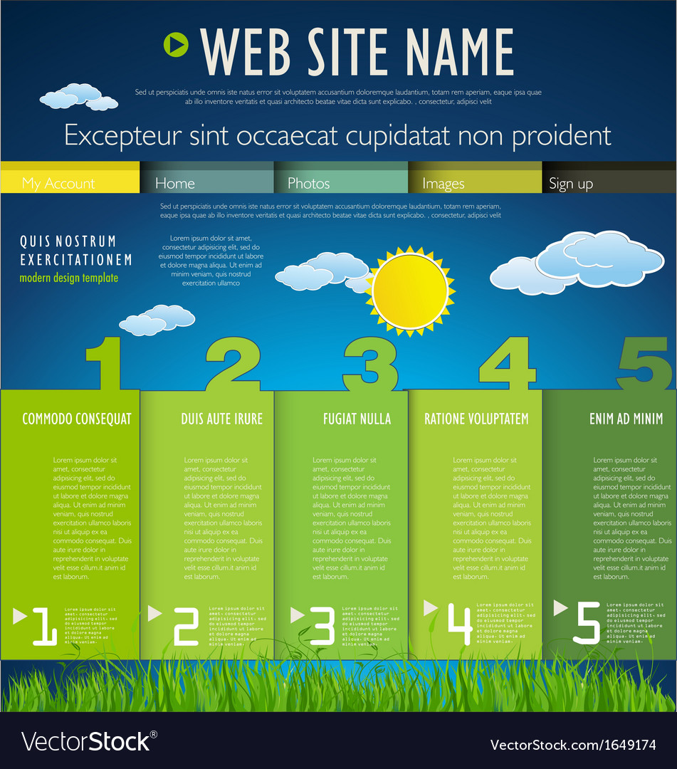 Modern nature web site design template vector | Price: 1 Credit (USD $1)