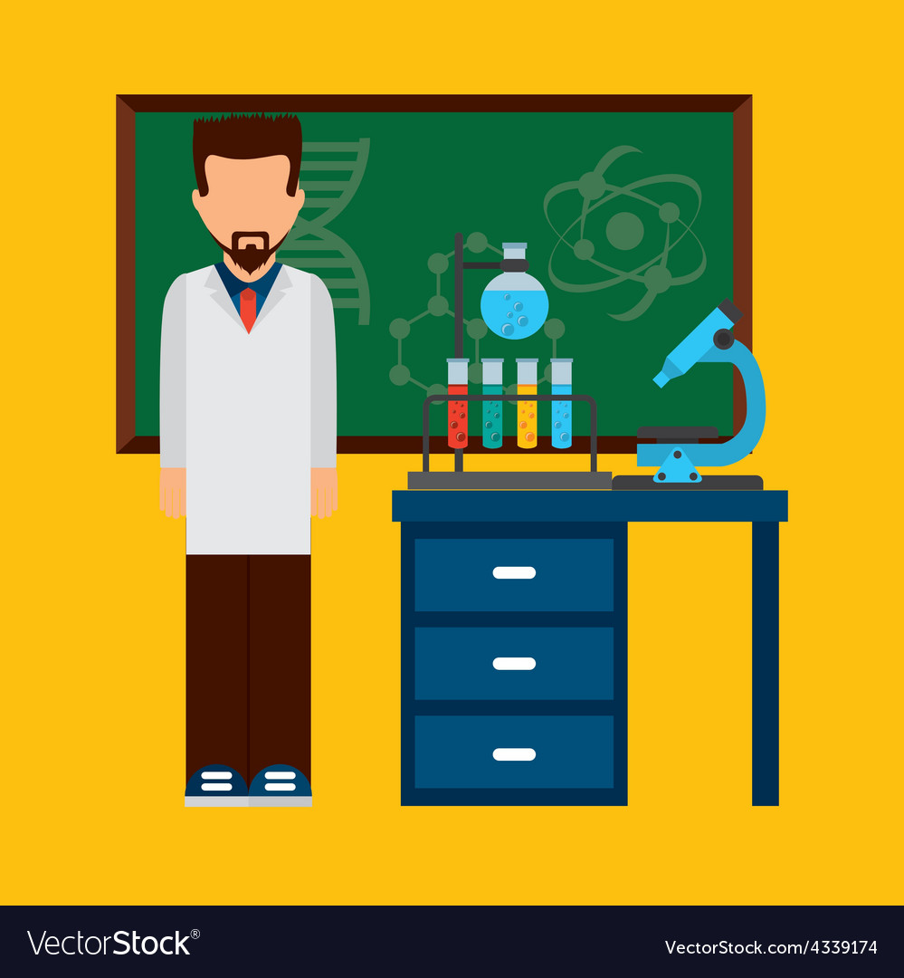 Scientific laboratory vector | Price: 1 Credit (USD $1)