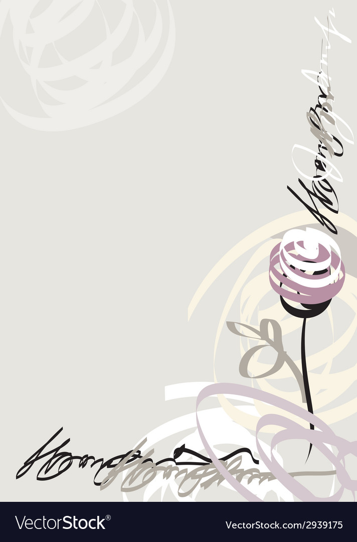 Border with draw rose vector | Price: 1 Credit (USD $1)