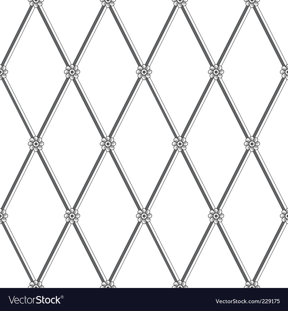 Daisy fence pattern vector | Price: 1 Credit (USD $1)