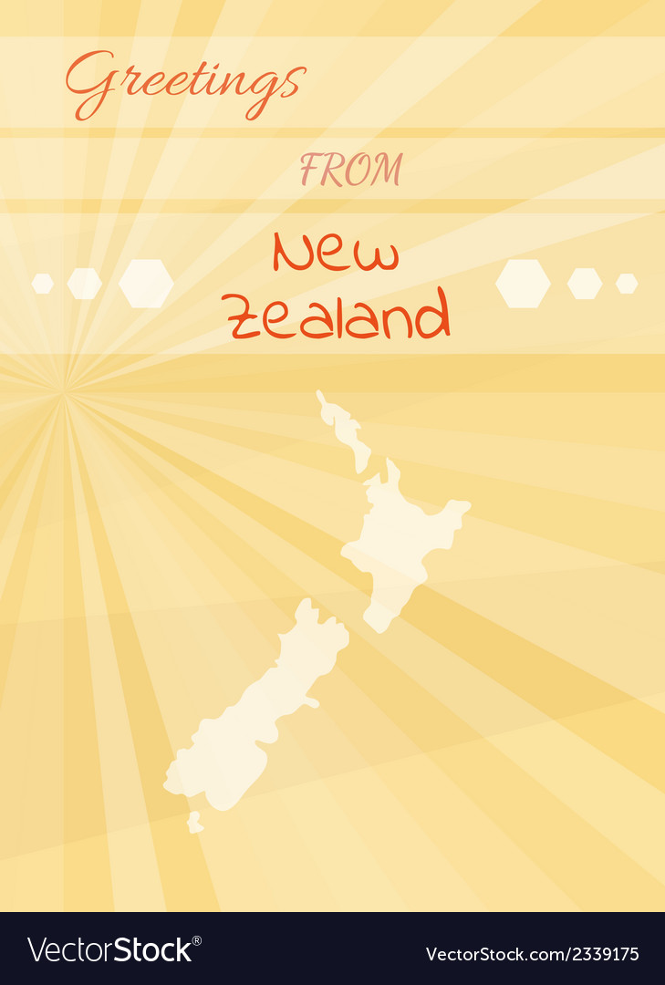 Greetings from new zealand vector | Price: 1 Credit (USD $1)