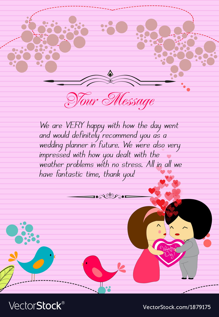 Letterhead valentines pink vector | Price: 1 Credit (USD $1)