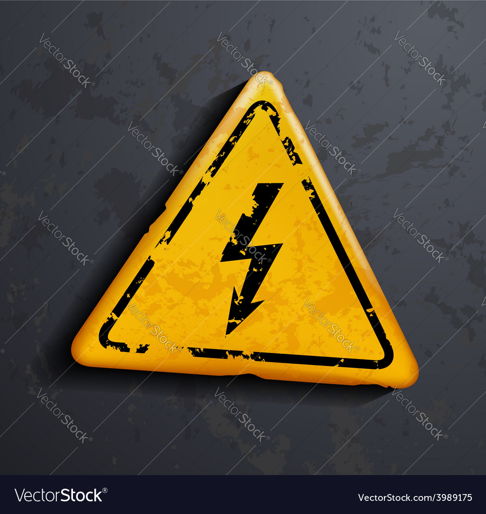 Metal sign high voltage vector | Price: 1 Credit (USD $1)
