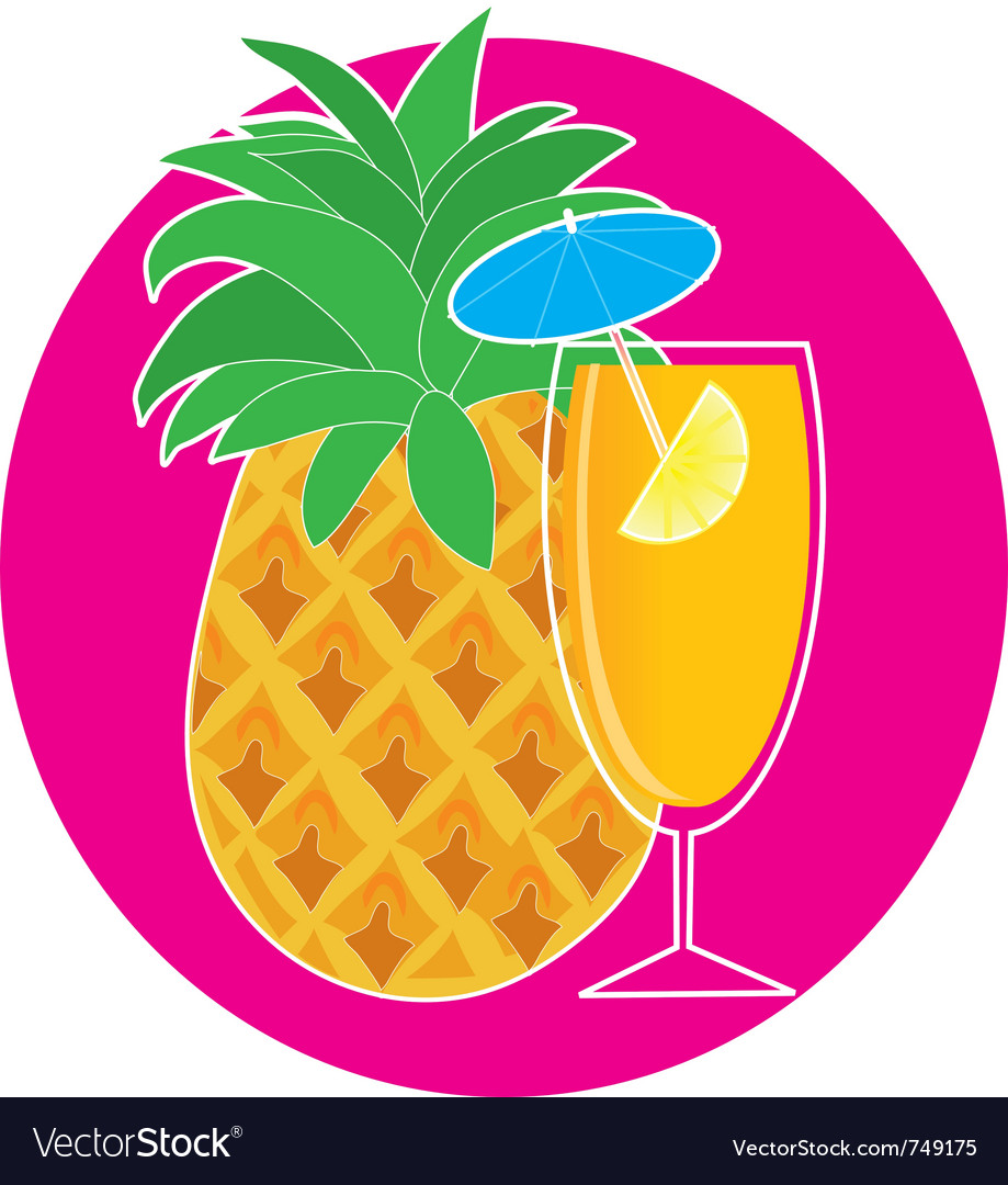 Pineapple cocktail vector | Price: 1 Credit (USD $1)