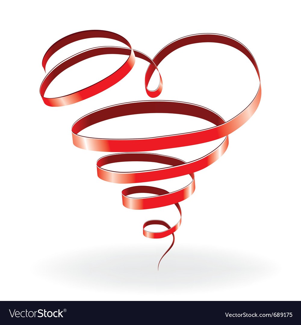 Ribbon heart vector | Price: 1 Credit (USD $1)