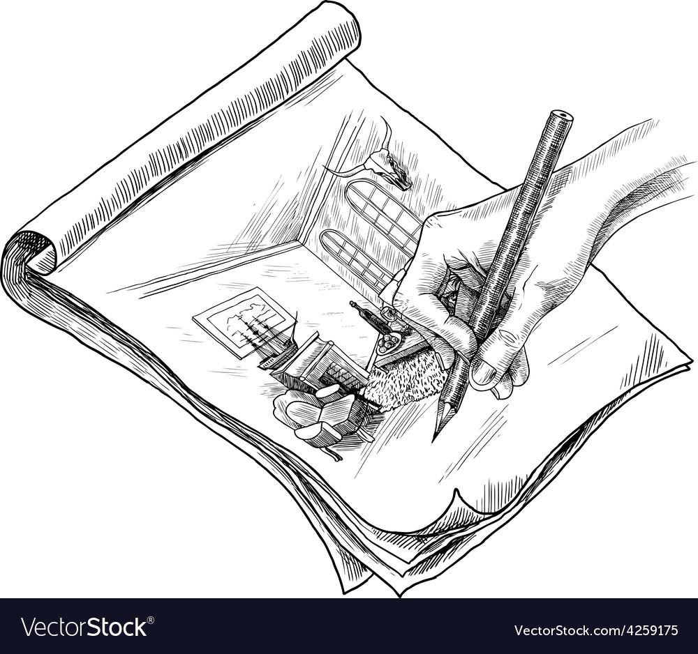 Room sketch vector | Price: 1 Credit (USD $1)