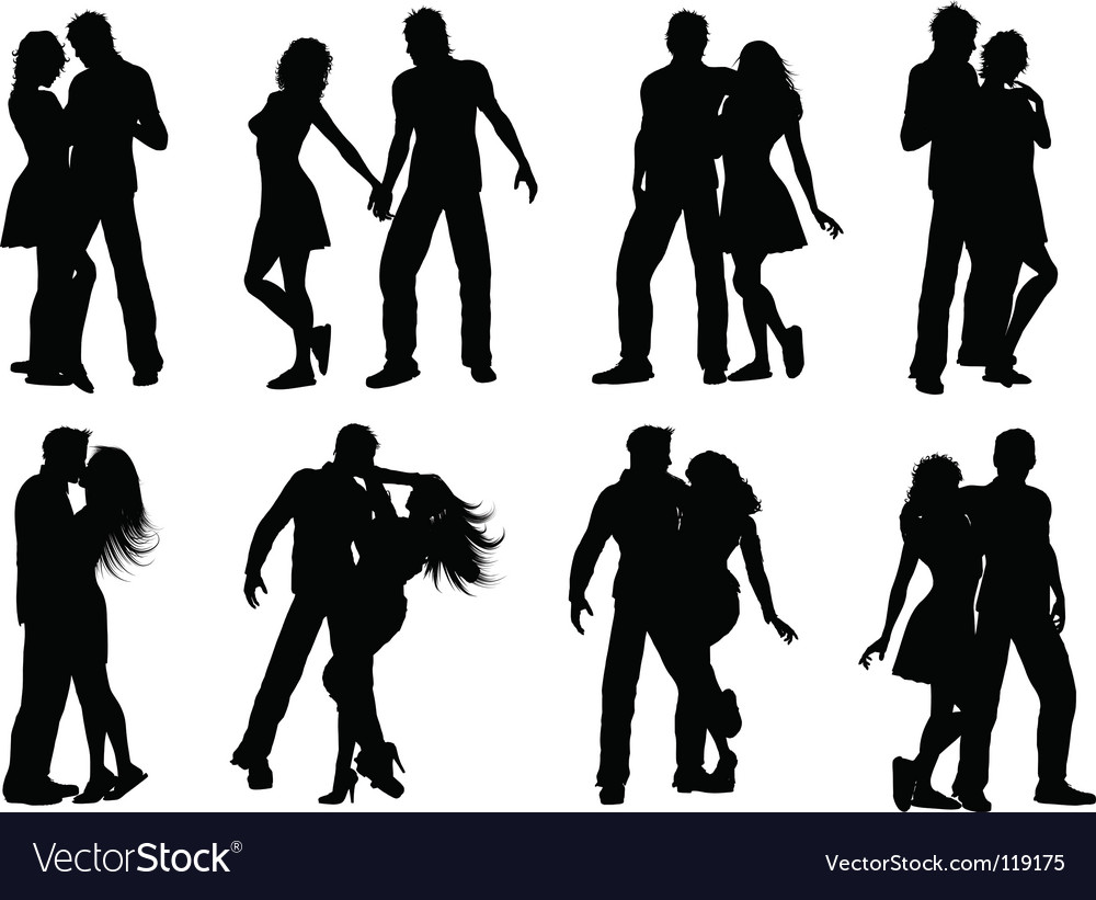 Silhouettes of couples vector | Price: 1 Credit (USD $1)