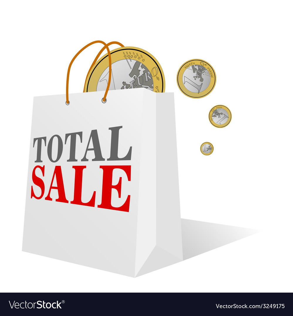 Total sale with euro color vector | Price: 1 Credit (USD $1)