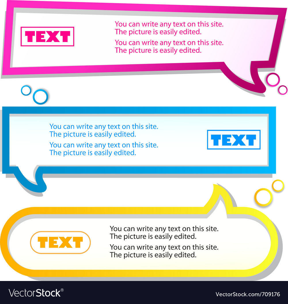 Colorful banner for text vector | Price: 1 Credit (USD $1)