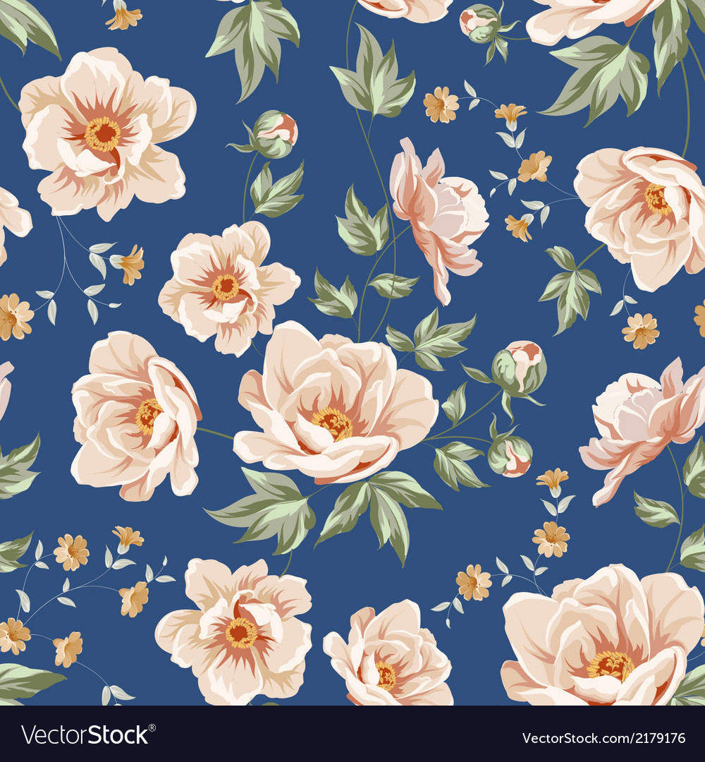Floral tile pattern vector | Price: 1 Credit (USD $1)