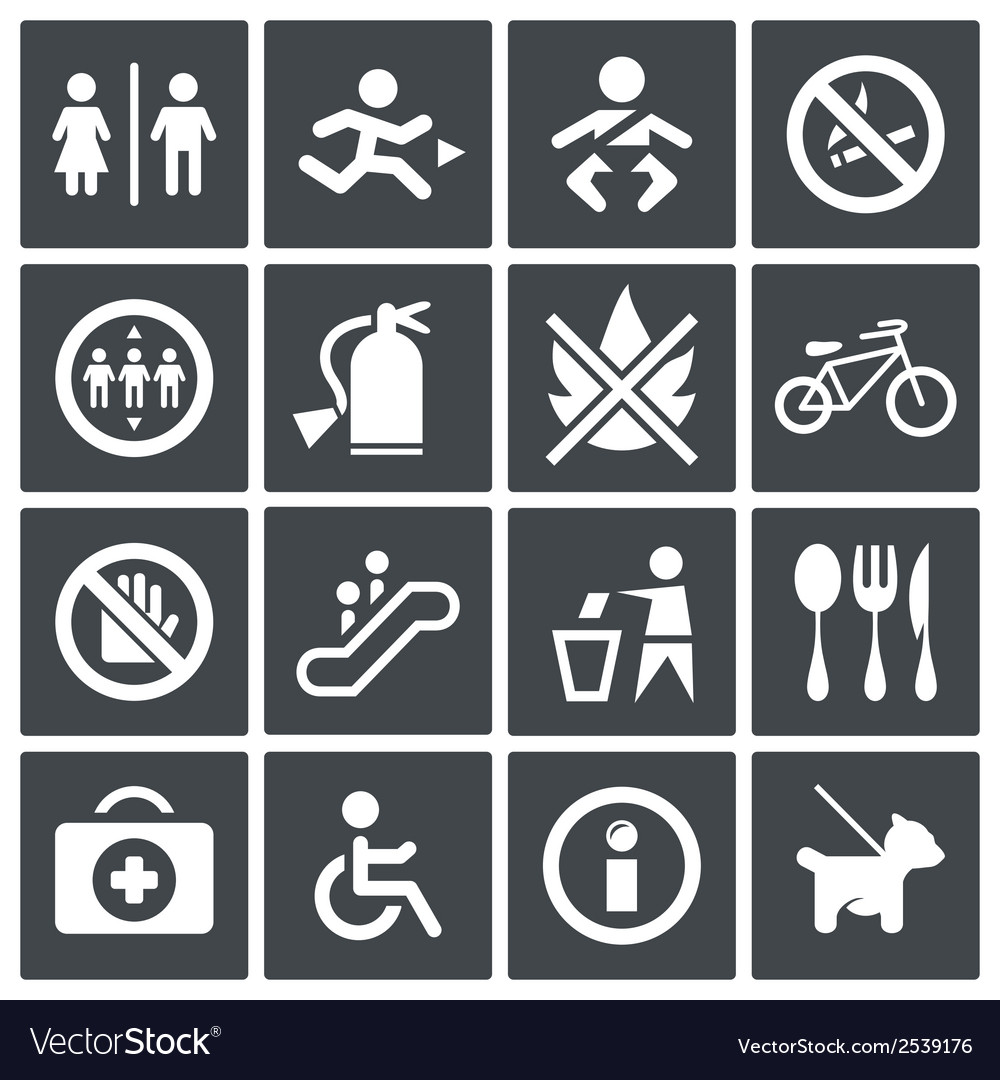 International signs icon set vector | Price: 1 Credit (USD $1)