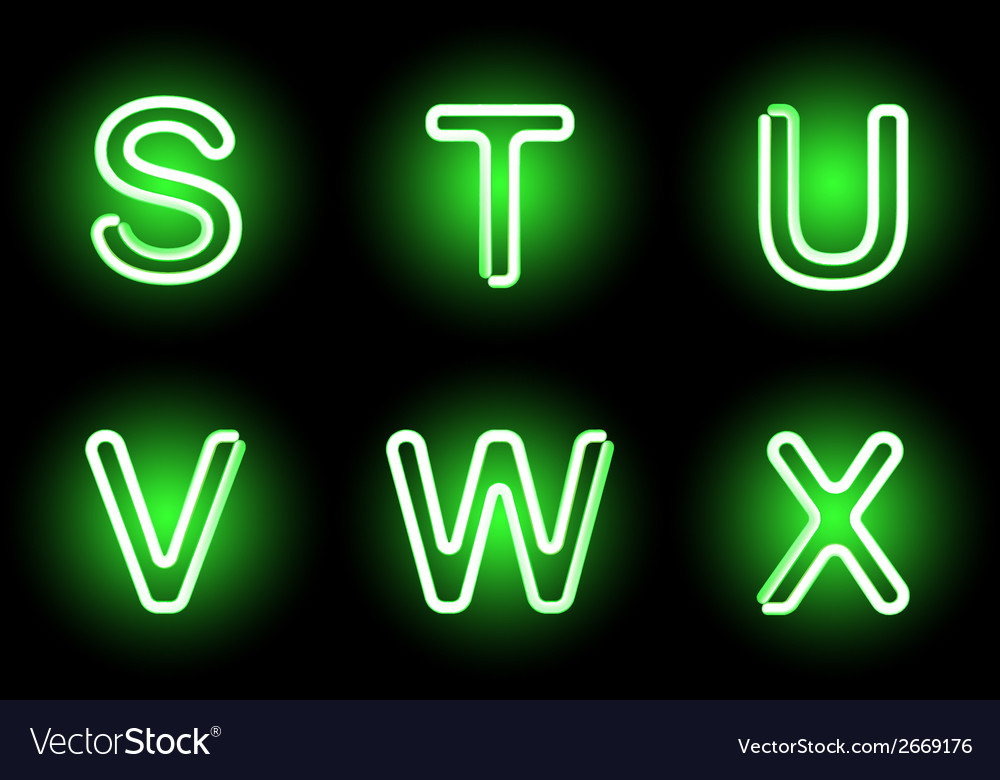 Neon alphabet vector | Price: 1 Credit (USD $1)