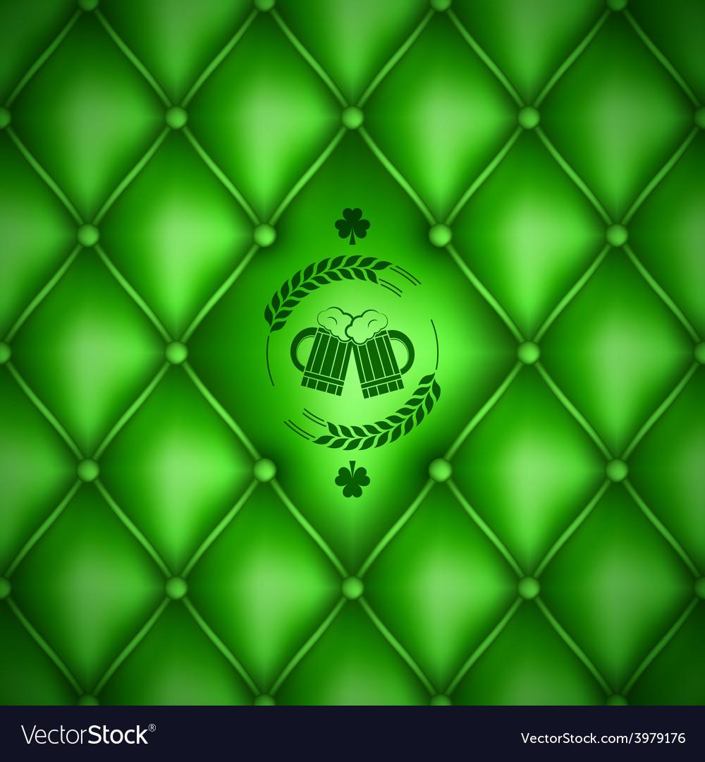 Patrick day beer menu background vector