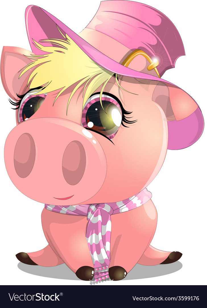 Pig vector | Price: 3 Credit (USD $3)