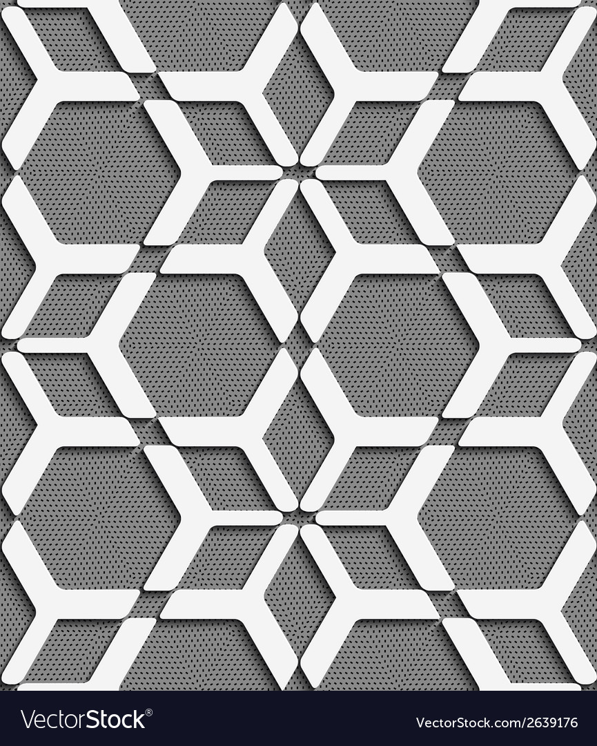 White geometrical net on textured gray seamless vector | Price: 1 Credit (USD $1)