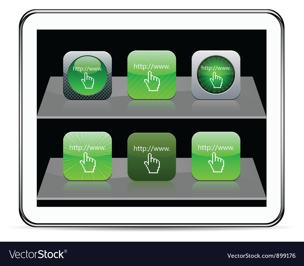 Www click green app icons vector | Price: 1 Credit (USD $1)