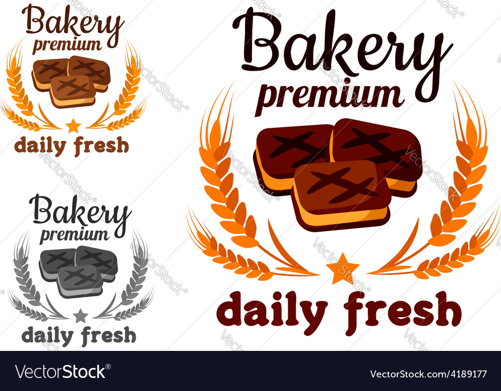 Bakery emblem with fresh cookie vector | Price: 1 Credit (USD $1)