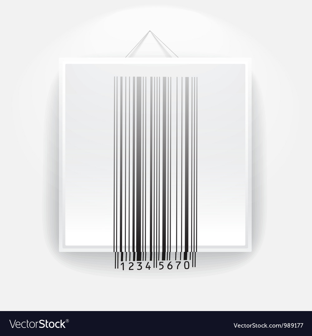 Blank frame on the wall with barcode vector | Price: 1 Credit (USD $1)