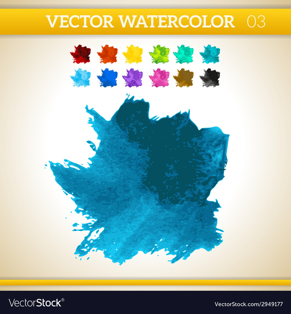Dark blue watercolor artistic splash for design vector | Price: 1 Credit (USD $1)