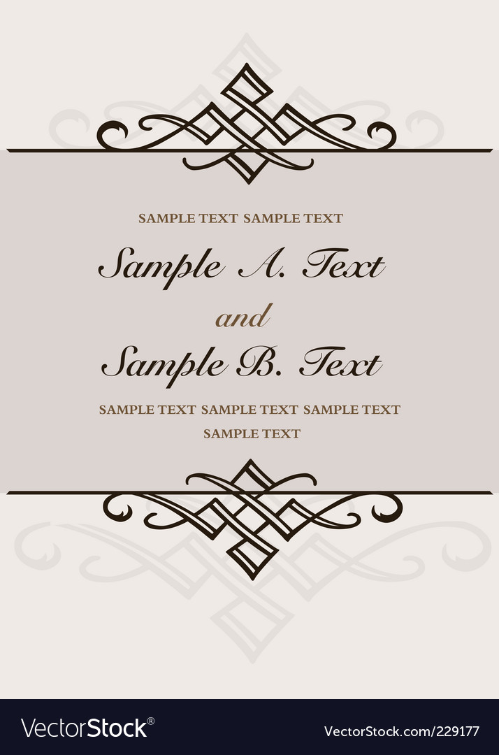Double ornament frame vector | Price: 1 Credit (USD $1)