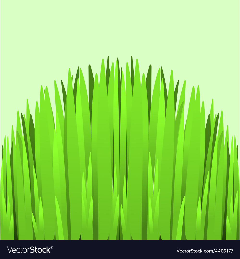 Hill green grass vector | Price: 1 Credit (USD $1)