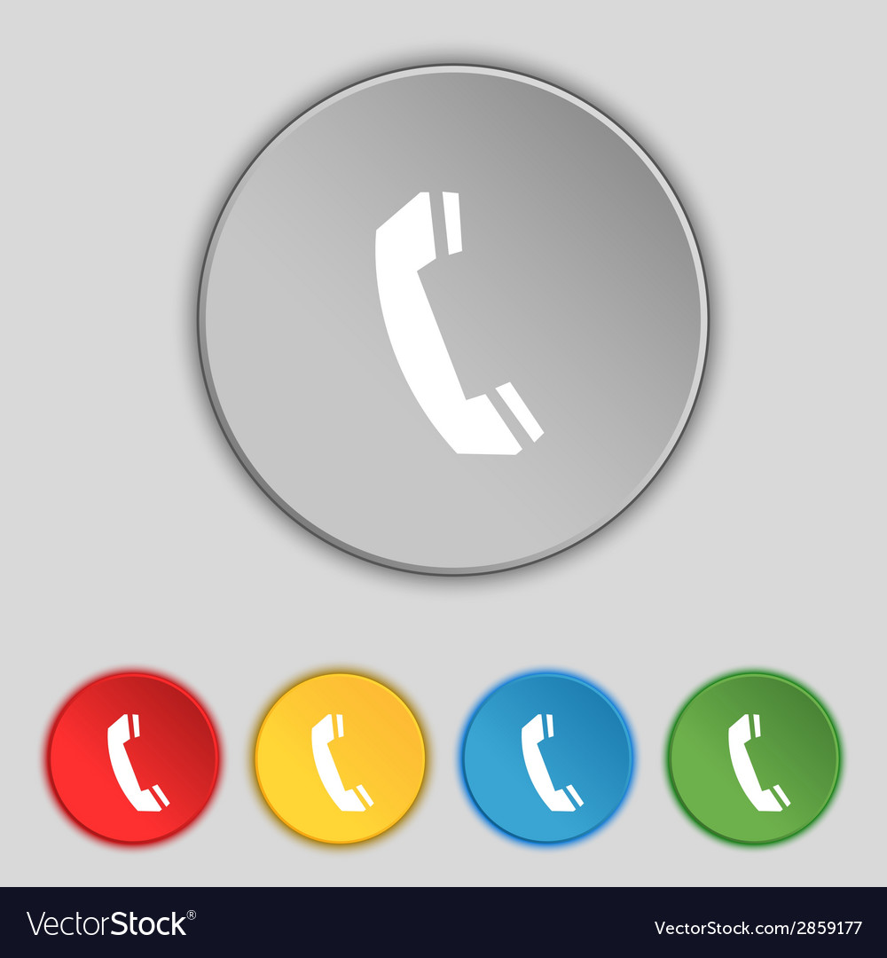 Phone sign icon support symbol call center set vector | Price: 1 Credit (USD $1)