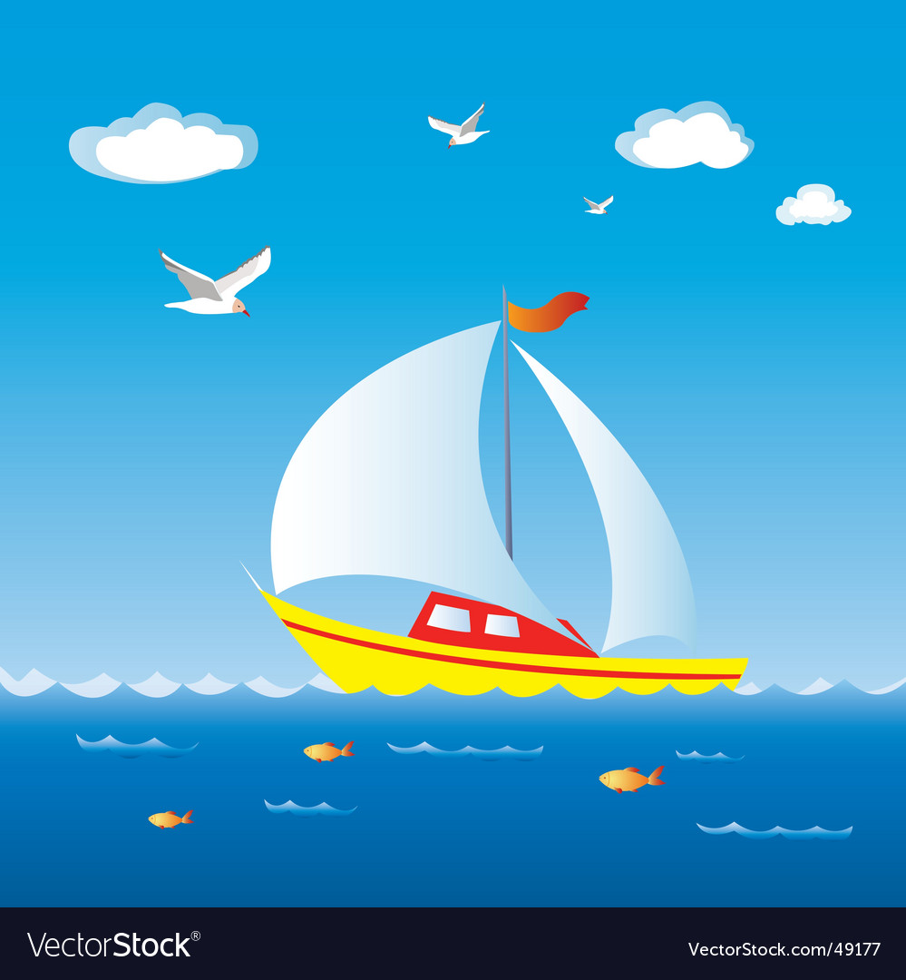Sail boat vector | Price: 1 Credit (USD $1)