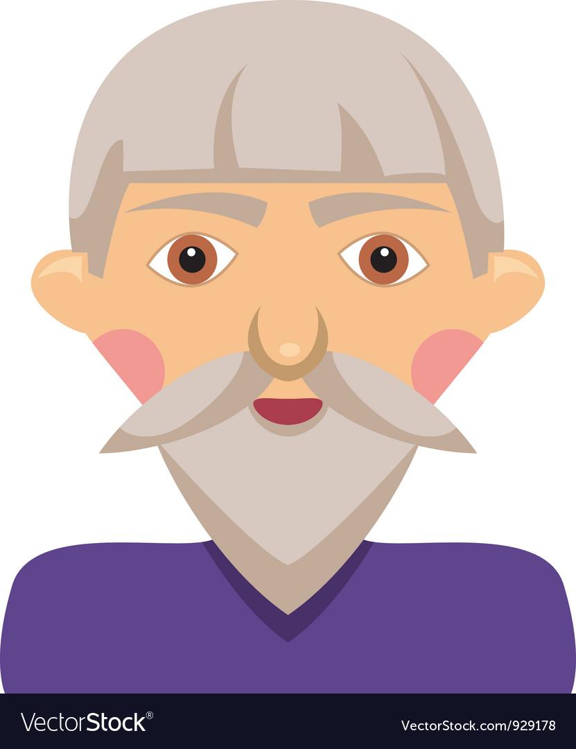 Cartoon elderly man vector | Price: 1 Credit (USD $1)