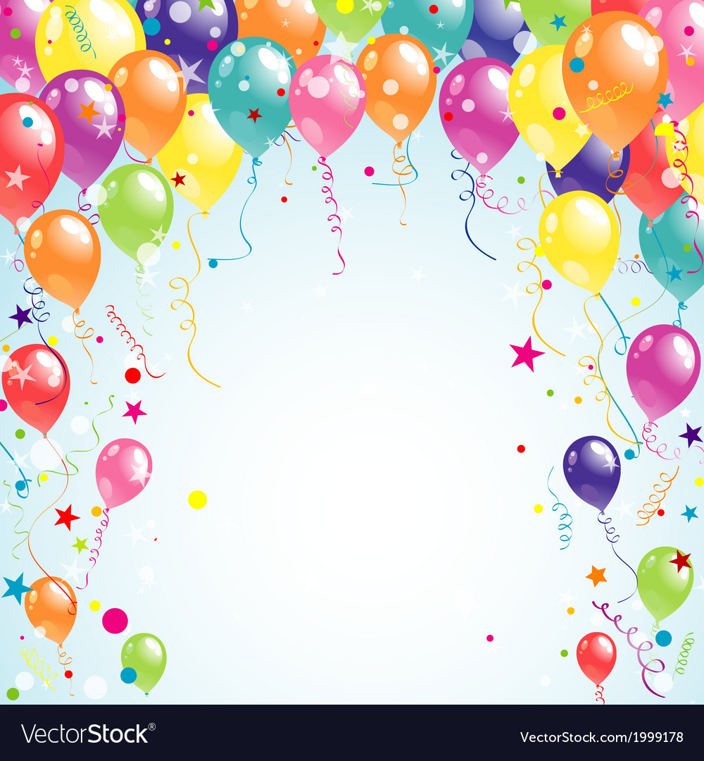 Color beautiful party balloons vector | Price: 1 Credit (USD $1)