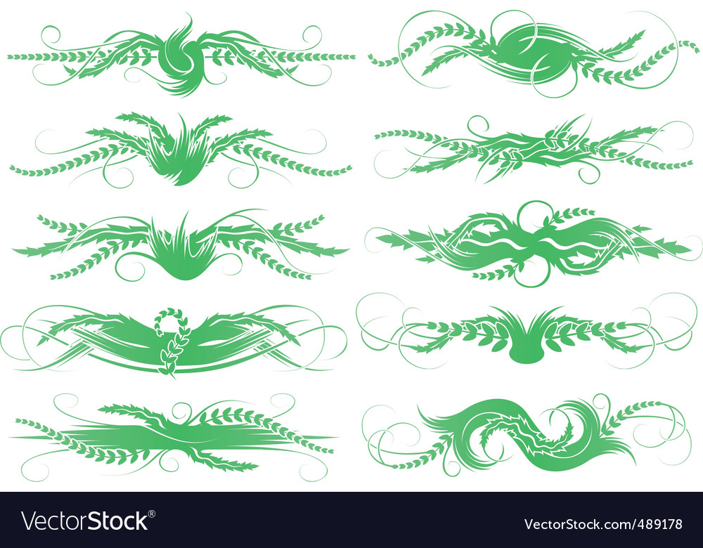 Foliage shapes vector | Price: 1 Credit (USD $1)