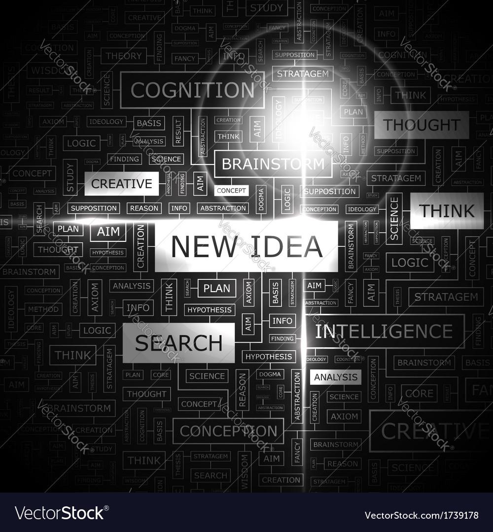 New idea vector | Price: 1 Credit (USD $1)
