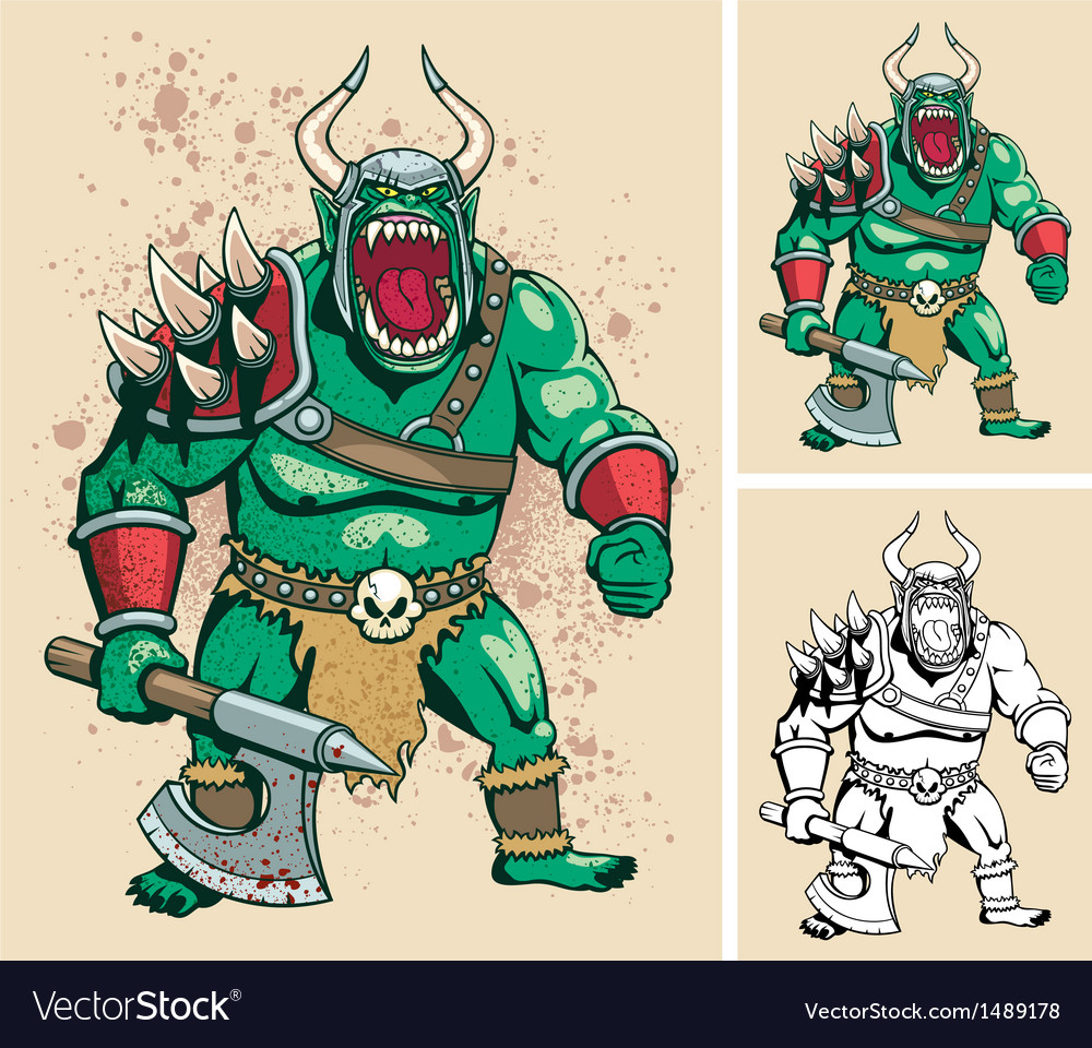 Orc vector | Price: 3 Credit (USD $3)