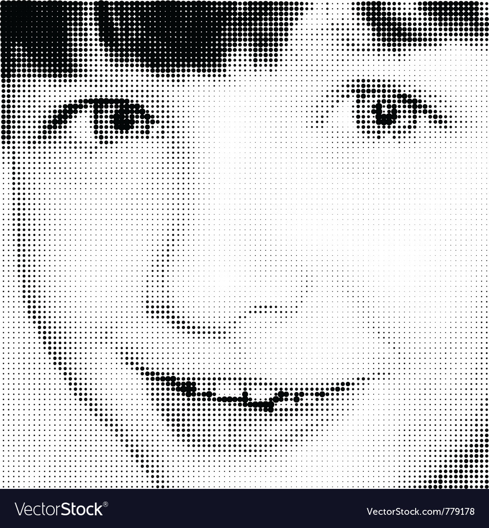 Portrait joy young girl vector | Price: 1 Credit (USD $1)
