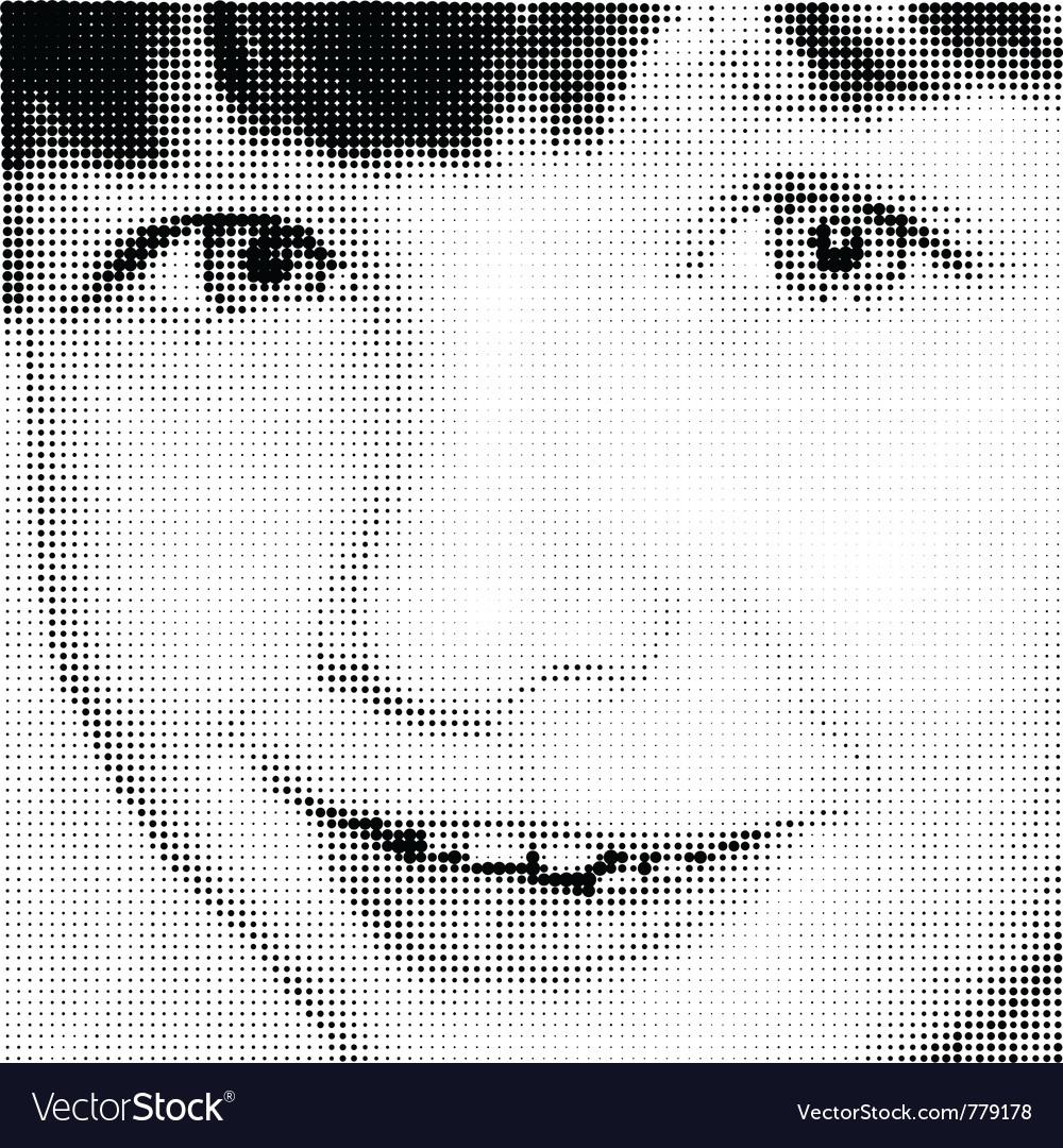 Portrait joy young girl vector | Price: 1 Credit (USD $1)