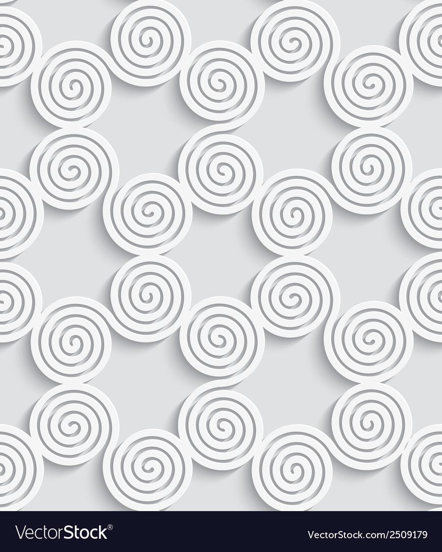 Abstract spiral seamless background with cut out vector | Price: 1 Credit (USD $1)