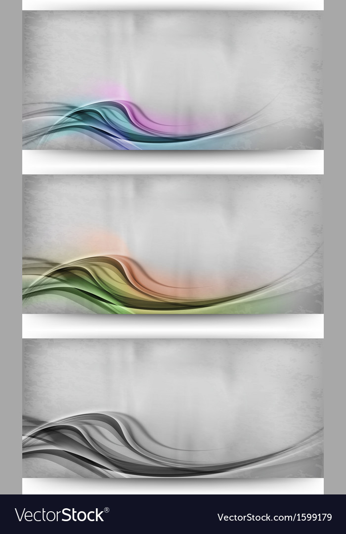 Abstract three card wave vector | Price: 1 Credit (USD $1)